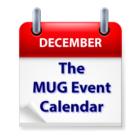 The MUG Event Calendar for the Week of December 17: David Ginsburg, iPhone, iPad, and Holiday Parties