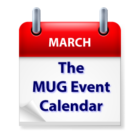 TheMUG Event Calendar for the Week of March 1: Joe Kissell, Kelly Guimont, Organization, iOS Tips & Tricks - The MUG Center